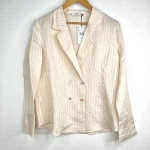 NWT MNG Suit Sonia Double Breasted Light Blazer